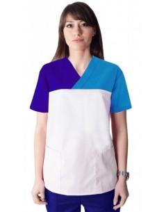 Bluza CH 3 Culori Alb - Albastru - Turcoaz