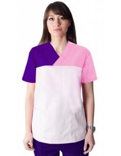 Bluza CH 3 Culori Alb - Roz - Mov