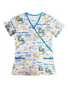Halat Y cu imprimeu Nurse